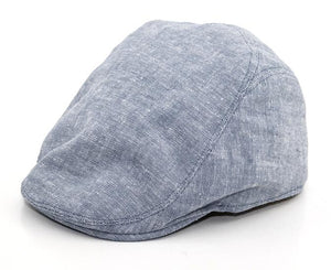 Mens Gray Chambray Ivy Cap