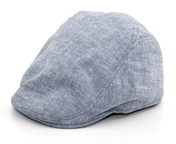 Jackson - Gray Chambray Kids Flat Cap