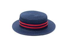 toddler boater hat in navy Junior Baby Hatter