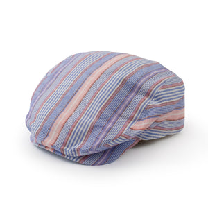 Baby Boy Cotton Newsboy Hat Blue Stripe Pink Stripe
