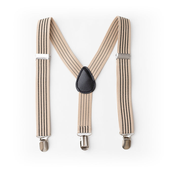 Black and Tan Stripe Toddler Suspenders and Infants