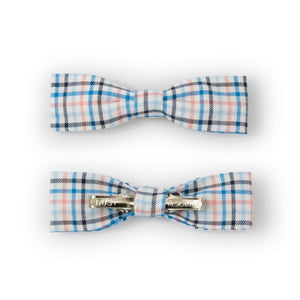Junior Baby Hatter Kids Skinny Bow Tie Blue Plaid