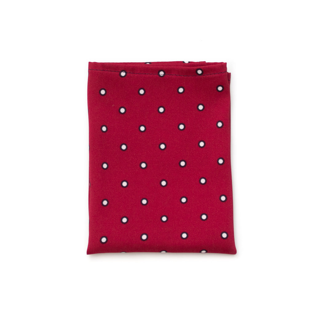 Mens Red Silk Pocket Square