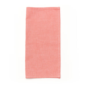 coral oxford cotton pocket square