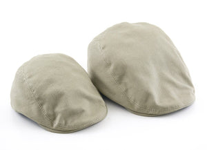 Khaki Cotton Flat Cap Set