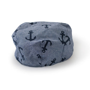 Cotton Chambray Boys Flat Cap