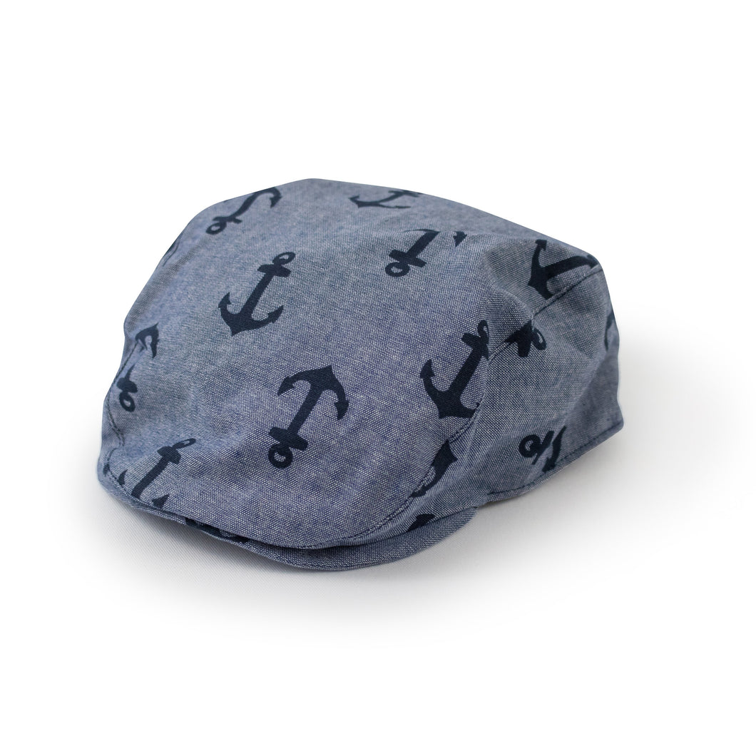 Nautical print toddler flat cap Junior Baby Hatter