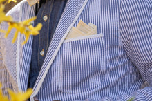 handmade yellow linen pocket square