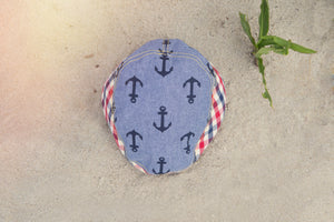 Nautical Print Flat Cap for Boys