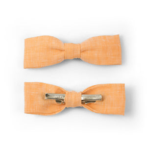 Orange Clip-on Bow Tie