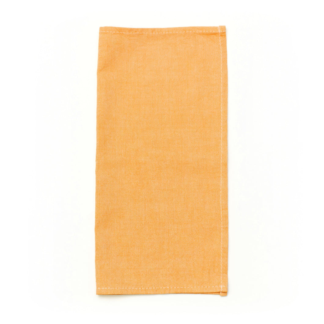 Orange Linen Pocket Square 12x12