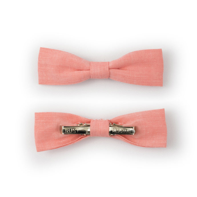Pink Clip-On Bow Tie