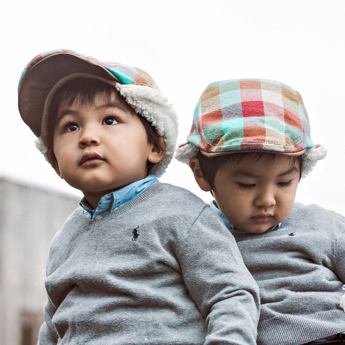 Baby Boy and Toddler matching hat set