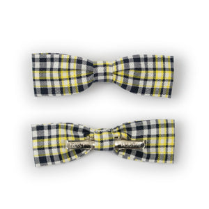 Plaid Clip-on Skinny Bow Tie