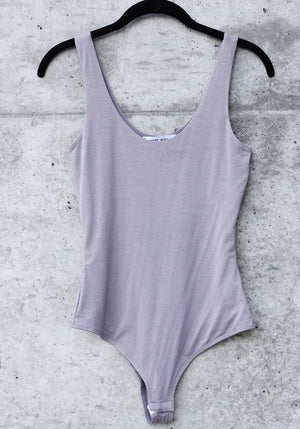 Whats the Scoop Taupe Bodysuit