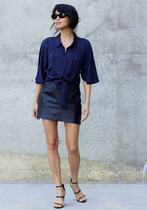 Miami Brunch Cropped Blouse - Concrete Runway