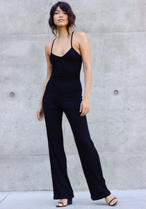 Concrete Runway Black All Day Ribbed Jumpsuit