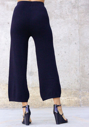 Daily Staple High Waist Culottes - Concrete Runway