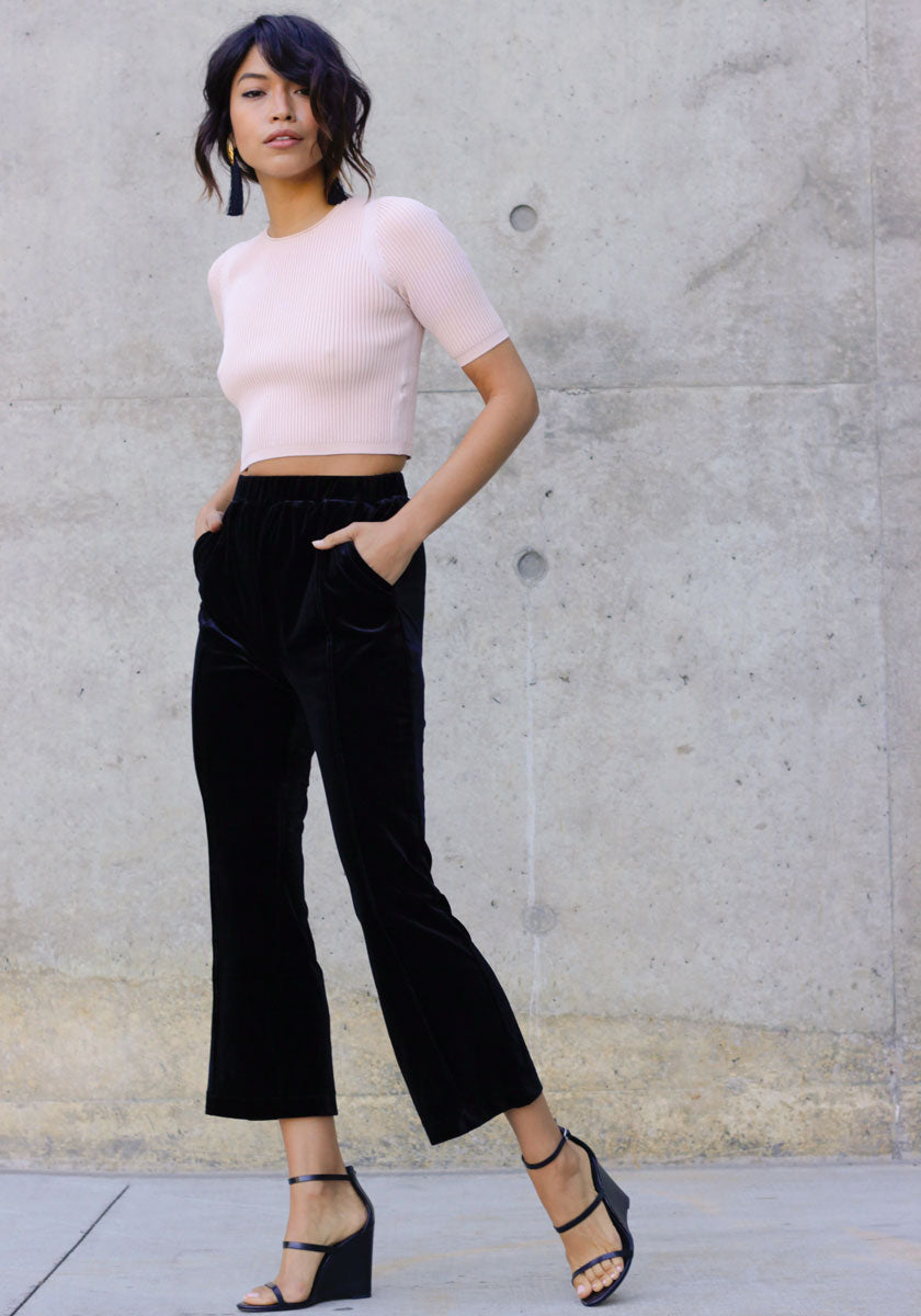 High Standards Velvet Culottes - Concrete Runway