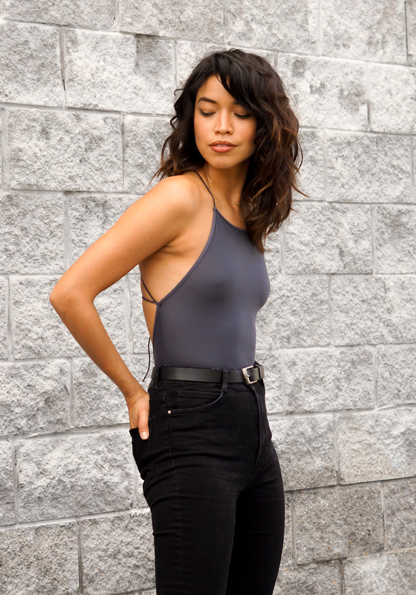 Eternal Summer Slate Bodysuit - Concrete Runway