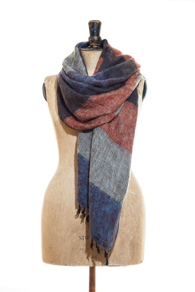 [Cashmere Scarf]-[Navy Poncho]-[Online scarf store free shipping]-[yak wool]-[cashmere]-[free delivery]-www.thecuriousyak.com