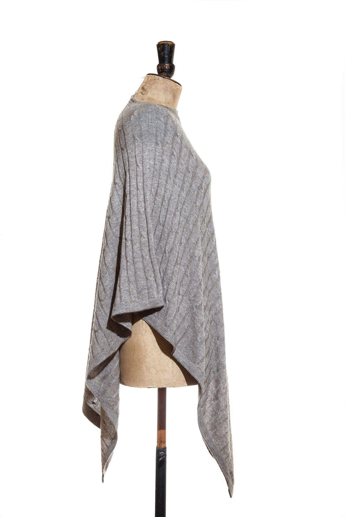 www.thecuriousyak.com Ponchos and Wraps Cable Knit Truffle Poncho