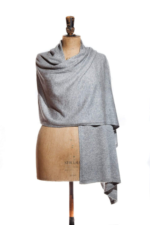 www.thecuriousyak.com Ponchos and Wraps Light Grey Wrap