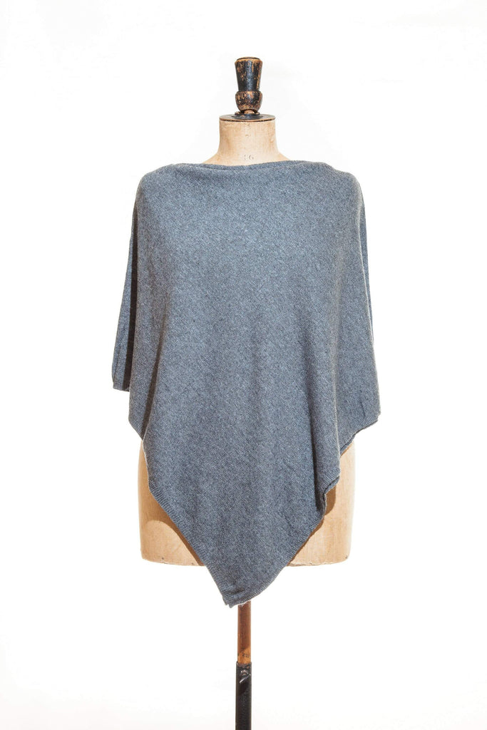 www.thecuriousyak.com Ponchos and Wraps Plain Dark Grey Poncho
