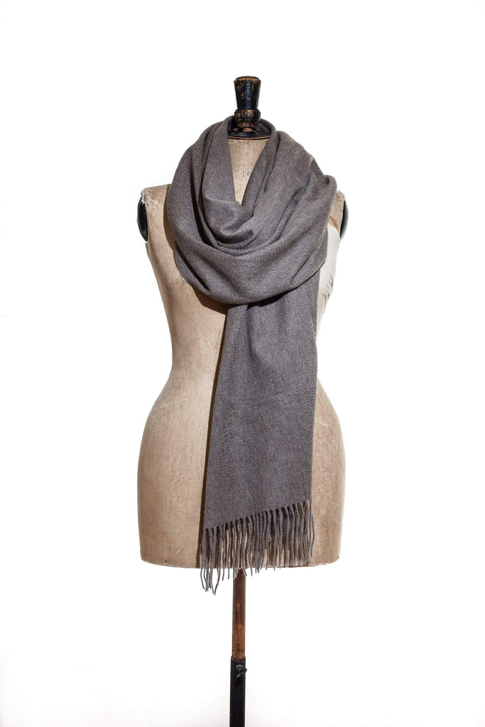 www.thecuriousyak.com Scarves Plain Truffle Yak Wool Scarf Large
