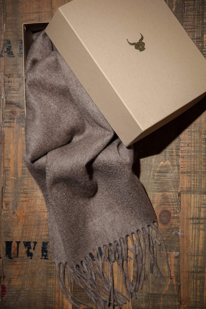 www.thecuriousyak.com Scarves Plain Truffle Yak Wool Scarf-Small
