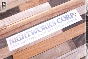 "Nightworks Corp. ""Camber"" Sticker"