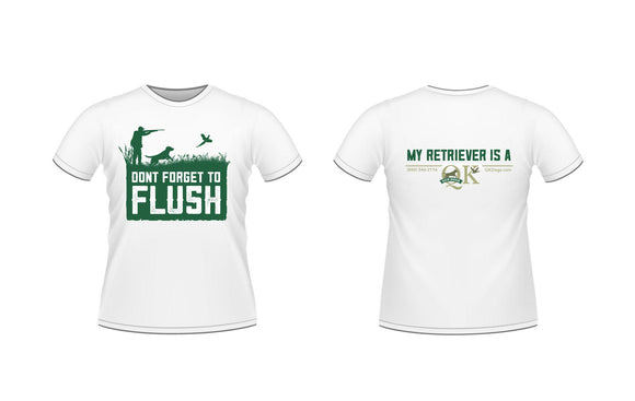 QK T-Shirt - Don't Forget To Flush/Gray