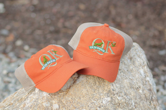 QK Gun Dogs Orange Mesh Trucker Hat