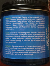 Tropical Coconut Oil Pomegranate Alpha Organics Hair Pomade