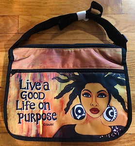NEW!!! Live A Good Life On Purpose Cross Body Bag
