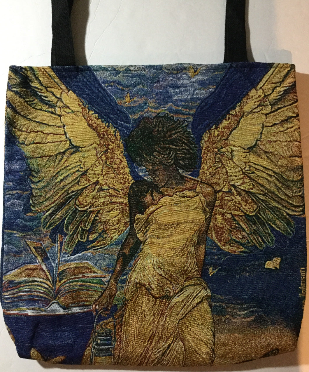 Angelic Guidance Woven Tote Bag
