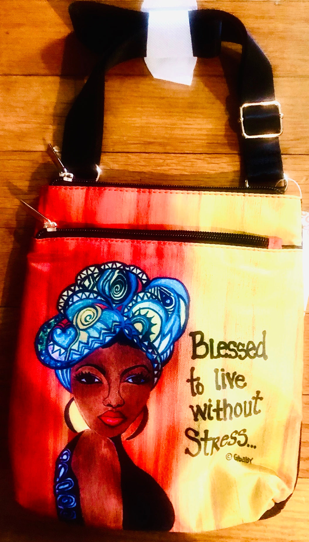 NEW!!! Blessed To Live Without Stress Travel Purse