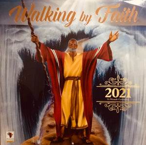 NEW!!! 2021 Walking By Faith Wall Calendar