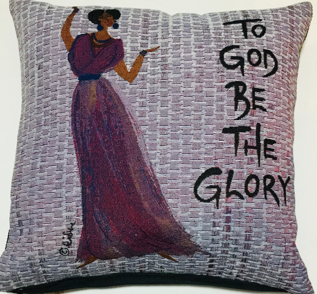 To God Be The Glory Stuffed Pillow