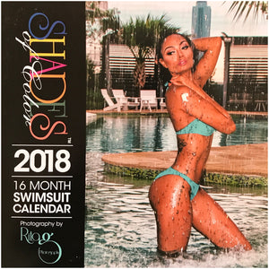 Shades of Color Swim Suit Wall Calendars 2018