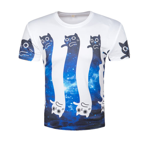 Galaxy Cats 3D T-Shirt - HoodieArt