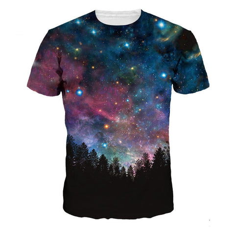 Galaxy Tree 3D T-Shirt