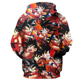 Goku Dragon Ball Zip-Up Hoodie