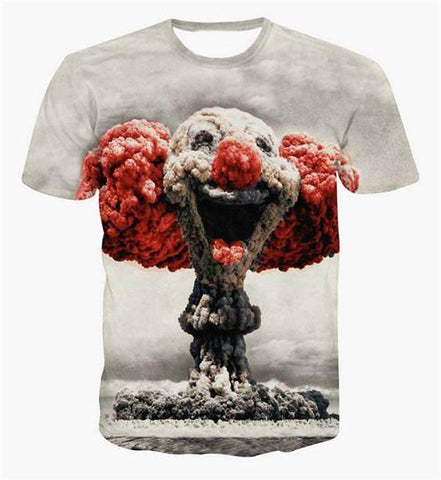 Nuclear Clown 3D T-Shirt - HoodieArt
