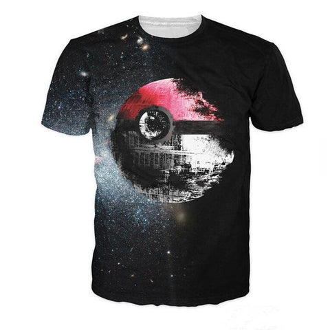 Pokeball Deathstar 3D T-Shirt - HoodieArt