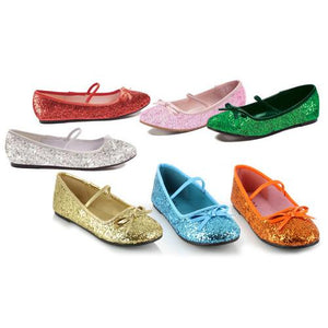"0"" Heel Ballet Slipper with glitter Childrens."