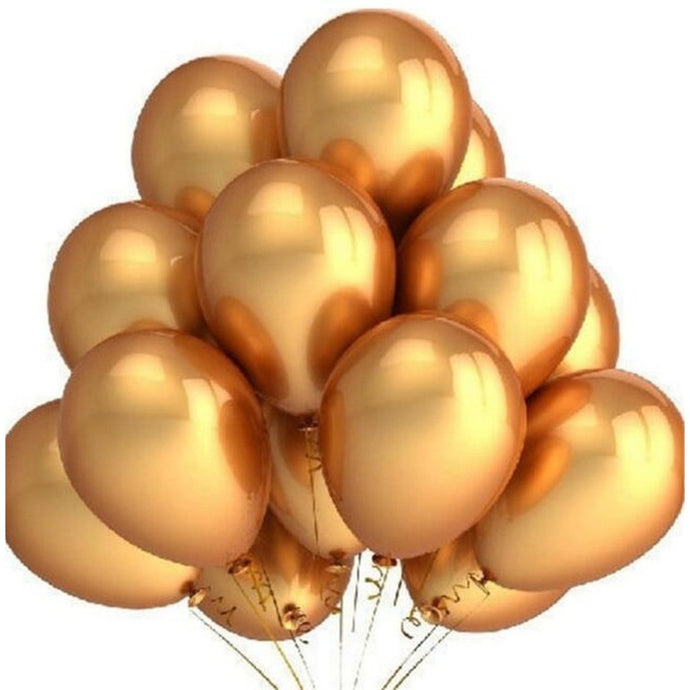 20pcs 12Inches Gold Latex Balloons Wedding Party Bubble Balloons Decor Supply Fashion