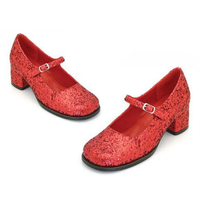"1.75"" Heel Red Glitter Maryjane Childrens."