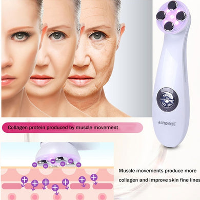 KINGDOMCARES Mesoporation Electroporation LED Photon Radio Frequency Face Lifting Tightening Facial Skin Massager Gift for Mothe