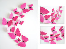 12Pc Removable 3D Vinyl Butterfly Shape Wall Sticker Home Decor DIY  Stickers For Kids Room Decorative Wedding Decoration